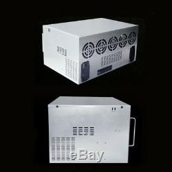 12 GPU Miner Crypto Coin Open Air Mining Rig Frame Graphics Case For ETC 10 Fans