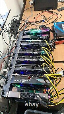12 GPU Mining Rig with 8 X RTX 3080s 800+MH/s BTC ETH OTHER Crypto Currency