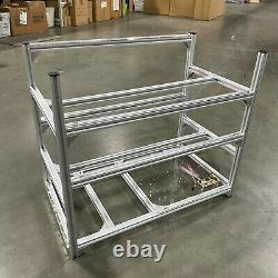 12GPU Aluminum Open Air Mining Rig Stackable Frame Holder For ETH Ethereum LOT