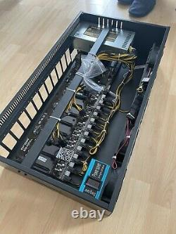 12x MINING RIG Cryptocurrency Bitcoin Ready To Mine Just Add Your GPUs