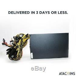 1600W 110V Power Supply For 6 GPU Eth Rig Ethereum Coin Mining Miner USA Shippin
