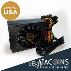 1600W 6 GPU Graphics Card Mining Power Supply 4 Eth Rig Ethereum Coin Miner USA