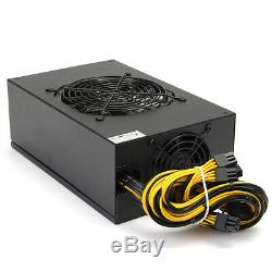 1600W Mining Power Supply For 6 GPU Eth Rig Ethereum Miner Antminer S7 S9