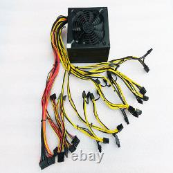 1600W Power Supply for 6GPU Eth Rig Ethereum Coin Miner Mining Dedicated 90 Gold