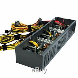 2600W Mining Power Supply 12 GPU For Rig Ethereum Bitcoin Miner 80 Plus Gold