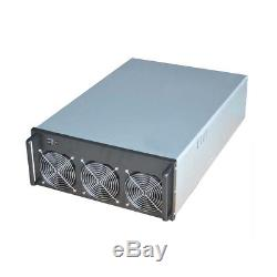 6 GPU 4U Mining Miner Rig Server Chassis Case+6x Lüfter Bitcoin ETH BTC Ethereum