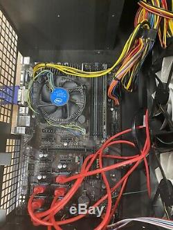 6 GPU Crypto Mining Rig Complete Sapphire Low Power Ideal For ETH ETC 192 MH/s