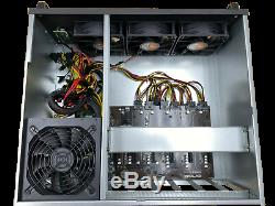6 GPU P106-100 6GB Crypto Currency Mining Rig Zcash Ethereum Bitcoin and more