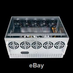 7.5U 12GPU PS/2 Open Air Mining Frame Rig Computer Case Chassis F/ ATX MICRO-ATX