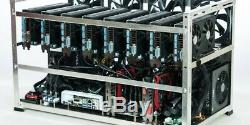 8 Card AMD Perfected Cryptocurrency GPU Mining Rig 200Mh at 700w ETH BTC EXO