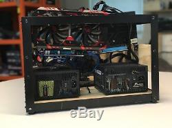 8 GPU (AMD) MINING RIG HASHRATE TOTALING APPROXIMATELY 240 MH/s on Ethereum