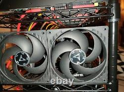 800+MH 13x3060Ti mining rig Ethereum /Alt coin faster thn most ethash ASIC miner