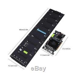 8GPU Mining Motherboard Mainboard with Extension Card For BTC Eth Rig Ethereum WY