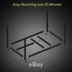 8GPU Mining Rig Aluminum Stackable Case Open Air Frame Dual Power Supply