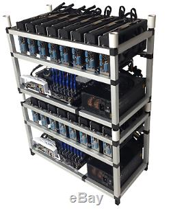 8x GPU RX 570 8GB CLOSED CASE Mining Rig 240 MH/s Ethereum + 70 altcoins