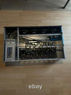 8x MINING RIG Cryptocurrency Bitcoin Ready To Mine Just Add Your GPUs