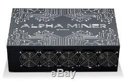 Alpha Miner GPU-200 Professional Mining Rig 250 MH/s 9xRX570 withPSU no Risers