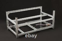 Aluminum Open Air Mining Rig Stackable Frame Holder For 12GPU ETH Ethereum LOT