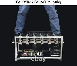 Aluminum Open Air Mining Rig Stackable Frame Holder For 8GPU ETH Ethereum LOT
