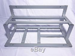 Bare 6 GPU aluminum frame open air mining rig case Zcash Ethereum Litecoin