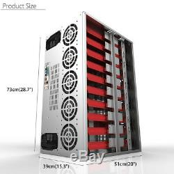 Coin Open Air Mining Frame Rig Graphics Miner SECC Case For 10-12 GPU ETH BTC