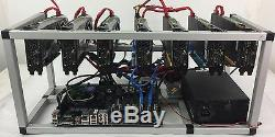Crypto Coin Mining Rig 7x GTX1070 8GB ETH Ethereum 212 MH/s Zcash 3000 Sol/s ZEC
