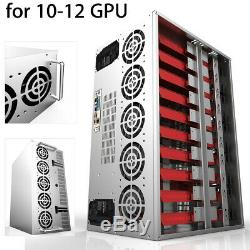 Crypto Coin Open Air Mining Frame Rig Graphics Case For 10-12 GPU ETH BTC