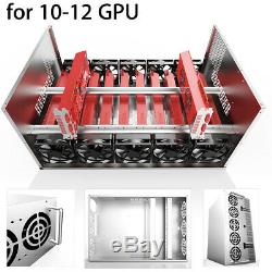 Crypto Coin Open Air Mining Frame Rig Graphics Case For 10-12 GPU ETH BTC G