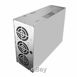 Crypto Coin Open Air Mining Frame Rig Graphics Case For 6-8 GPU ETH 5 Fans J