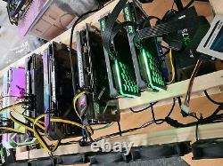Crypto Mining Rig 6 X GPU at 420MH/s Ready BTC ETH Other 2 X PSU Included