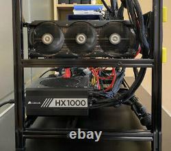 Crypto Mining Rig Ethereum Bitcoin Alt Coins 5 x RTX 3080 500 MH/s IN STOCK
