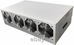 ETH Mining Rig Ethereum Kit Miner Frame with Fans Open Air Mining Case for 8 GPU