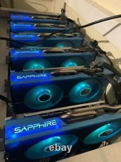 Ethereum Bitcoin BTC ETC Crypto Mining Rig up to 830MH/S+ 28 X RX 570/580 8GB
