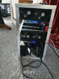 Ethereum Bitcoin BTC ETH Mining Rig up to 360-400MH/S+ 12X RX 580 8GB
