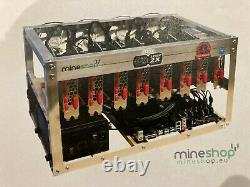 Etherium Crypto Mining Rig 220 MH/s Mineshop Bitcoin / Cryptocurrency Rig