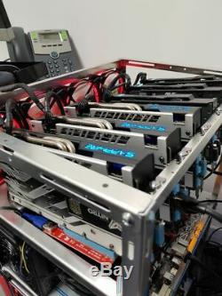 Fully built GPU Mining Rig for Ethereum ZCASH etc