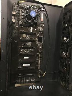 Mining Rig Case With 8 Gpu Motherboard (gpus Not Included)