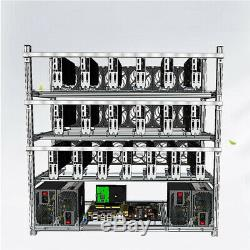 Mining Rig Frame 19 GPU Open Air Miner Case For ETH BTC Ethereum Crypto Coin 1