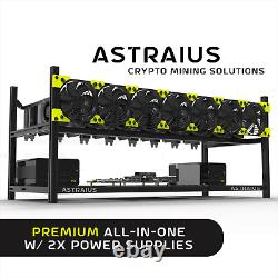 Mining Rig Kit, Premium All-In-One with 2x Power Supplies 8 GPU Cryptocurrency