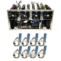 MintCell TITAN-8 Open Air GPU Mining Rig Frame Case Chassis with 8 USB Risers