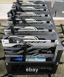 New Ethereum + Others 150 180 MH/s 6 x AMD RX570 8GB GPU Pro Crypto Mining Rig