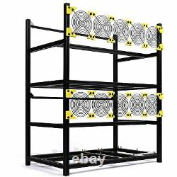 Open Air Mining Frame Rig Case 6 GPU Rack Ethereum Veddha Minercase Stackable
