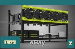 PPC Basic 6 Mining Rig For Cryptocurrency
