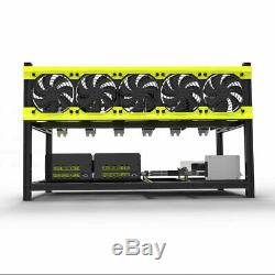 Professional 6 Gpu Mining Miner Case Aluminum Stackable Mining Case Rig Open Air