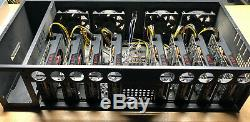 Used 8x GPU MSI RX580 8GB V1 Mining Rig 220 MH/s Ethereum + 70 altcoins