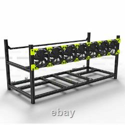 VEDDHA Stackable 6/8GPU Open Air Mining Computer Chassis BTC ETH Miner Frame Rig