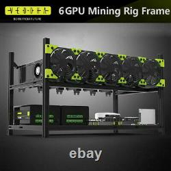 Veddha V3C 6/8 GPU Mining Rig Aluminum Case Stackable Open Air Frame & Cable